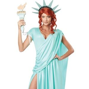 Statie of liberty costume! Worn once! Crown/candle